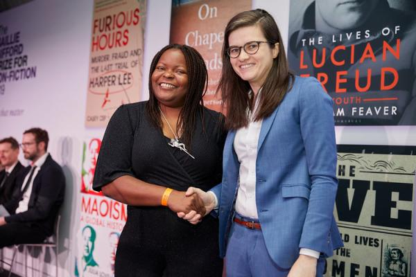 Casey Cep, 2019 shortlisted author with judge Petina Gappah