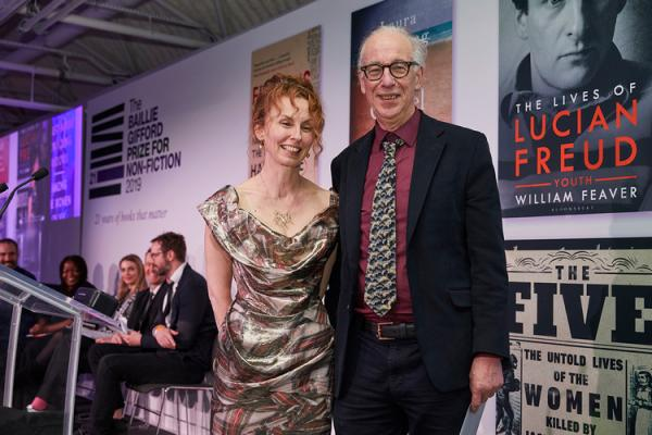William Feaver, 2019 shortlisted author with judge Frances Wilson