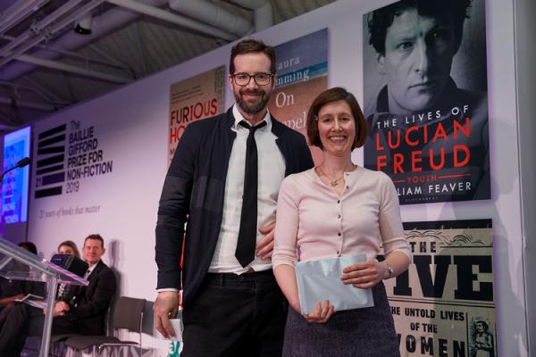 Julia Lovell, 2019 shortlisted author with chair judge Stig Abell